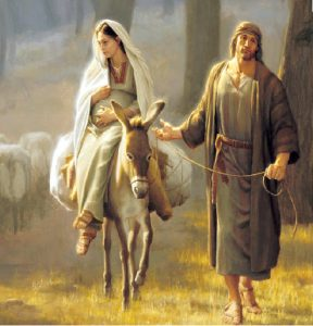Mary and Joseph Travel to Bethleham
